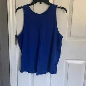 Old Navy Blue Open Back Active Tank